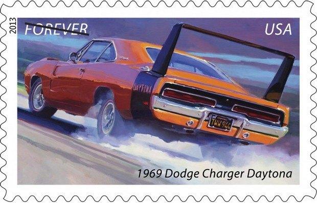 Почта США выпустила коллекцию марок с изображением легендарных маслкаров. Изображение № 4.