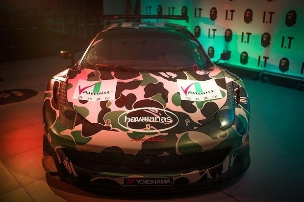 Ferrari совместно с маркой A Bathing Ape представили камуфляжную версию своего суперкара. Изображение № 8.