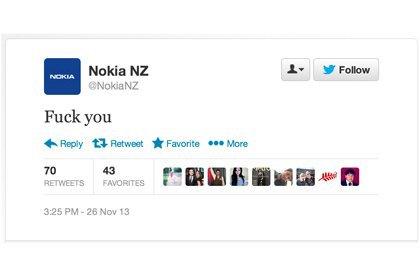 Компания Nokia принесла извинения за нецензурную брань в своем твиттере. Изображение № 1.