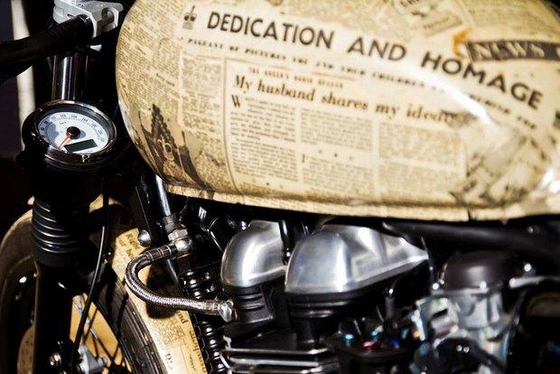 Итальянская мастерская Centro Modo Lodi представила «королевский» кастом модели Triumph Thruxton. Изображение № 17.