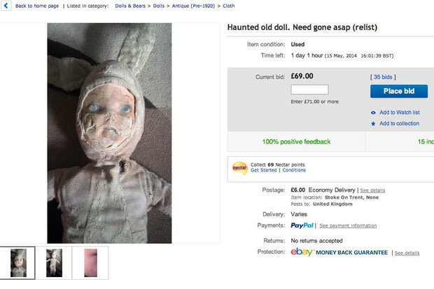 «Одержимая» кукла ушла с молотка аукциона eBay. Изображение № 1.