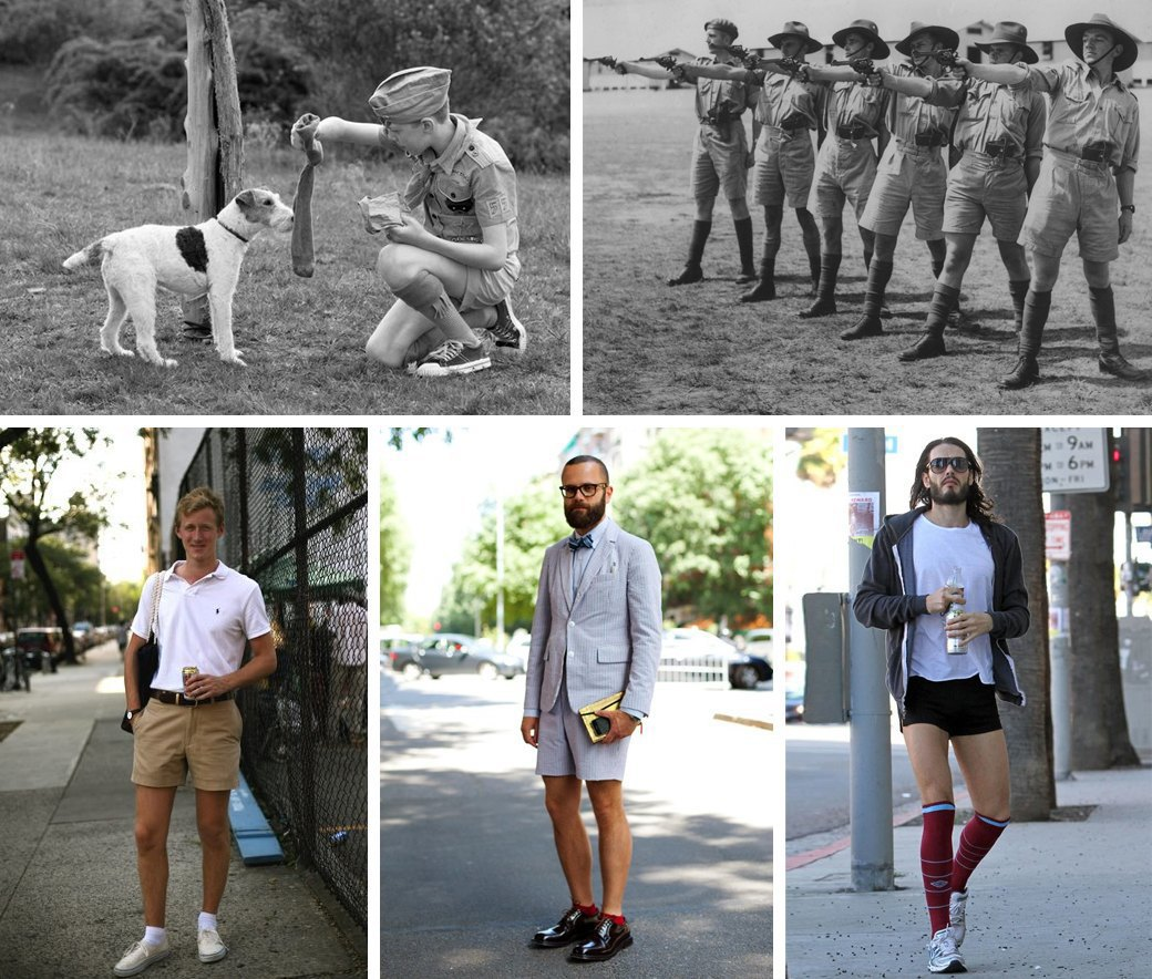 Какие носки надевать летом: Схема выбора длины и правила сочетания с шортами. Изображение № 2.