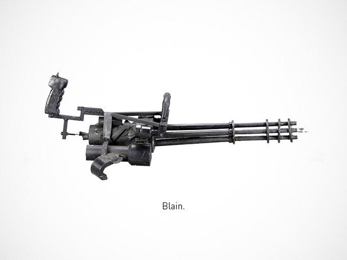 Итальянский дизайнер представил коллекцию плакатов знаменитого оружия. Изображение № 8.