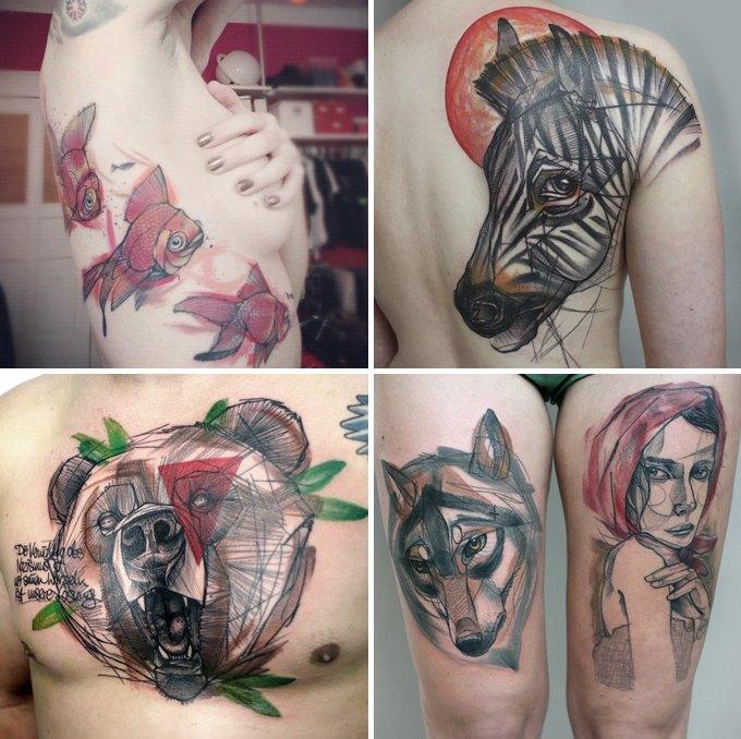 Путеводитель по самому спорному и одновременно художественному жанру татуировок — ар-брюту. Изображение № 14.