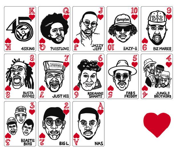 В Японии выпустили игральные карты с хип-хоп-музыкантами. Изображение № 4.