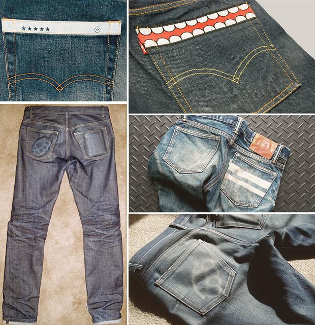 Кастет, краска и вышитые инициалы: Как кастомизировать любимую пару джинсов. Изображение № 9.