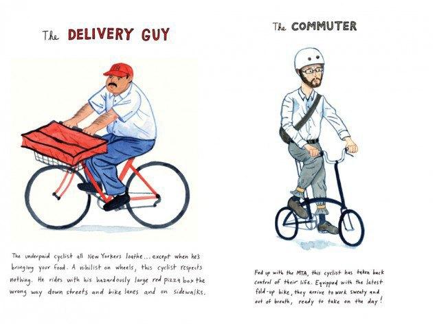 Художник-иллюстратор классифицировал нью-йоркских велосипедистов. Изображение № 7.