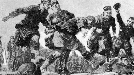 Английские и немецкие футболисты воссоздадут матч времен Первой мировой войны. Изображение № 1.