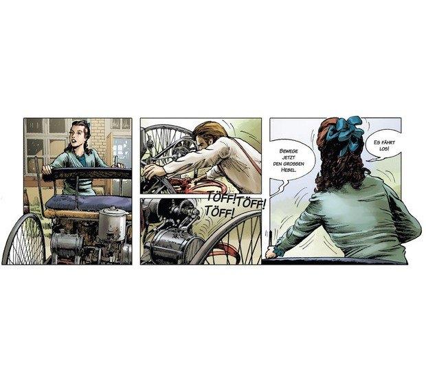 Вышли комиксы об изобретателе автомобиля Карле Бенце. Изображение № 4.