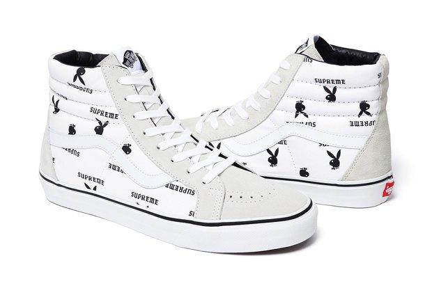 Марки Vans, Supreme и  Playboy выпустили совместную коллекцию обуви. Изображение № 6.