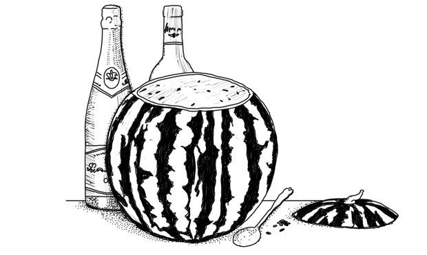 Совет: Как сделать крюшон из арбуза. Изображение №2.