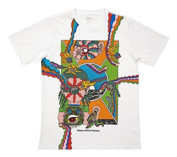 Марка Stussy и японский художник Кейичи Танами выпустили совместную коллекцию футболок. Изображение № 1.