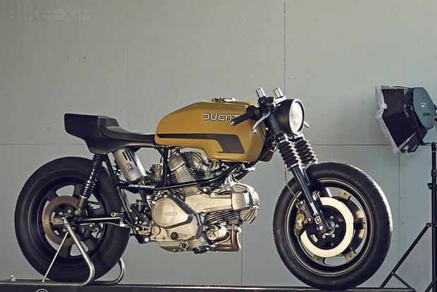 Немецкая мастерская JvB-moto выпустила каферейсер на основе Ducati Pantah. Изображение № 2.