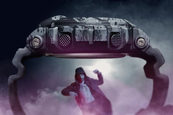 В магазине Brandshop состоится запуск продаж коллаборационной модели часов Casio G-Shock x Maharishi. Изображение № 5.
