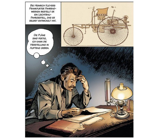 Вышли комиксы об изобретателе автомобиля Карле Бенце. Изображение № 2.