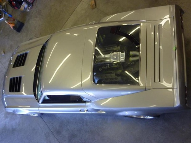 Американская мастерская изготовила гибрид маслкара Ford Mustang Mach 1 и спорткара GT40. Изображение № 7.