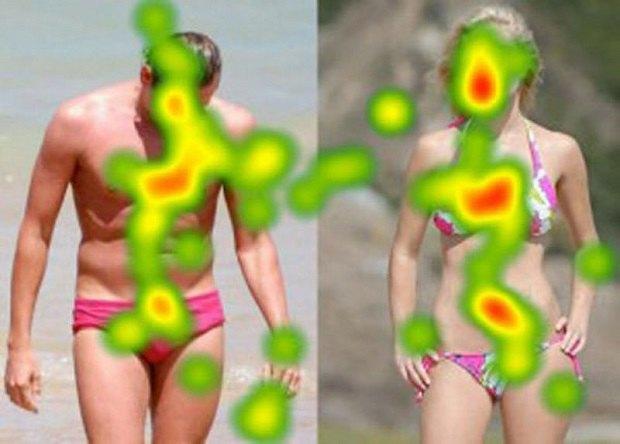 Айтрекеры показали, на какие части тела мы смотрим в первую очередь. Изображение № 5.