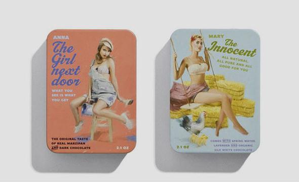 Коробки конфет с портретами девушек в стиле пин-ап. Изображение № 6.