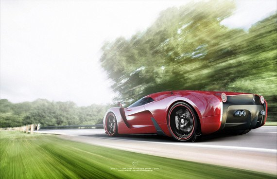 Представлен новый концепт суперкара на базе Ferrari 458 Italia. Изображение № 8.
