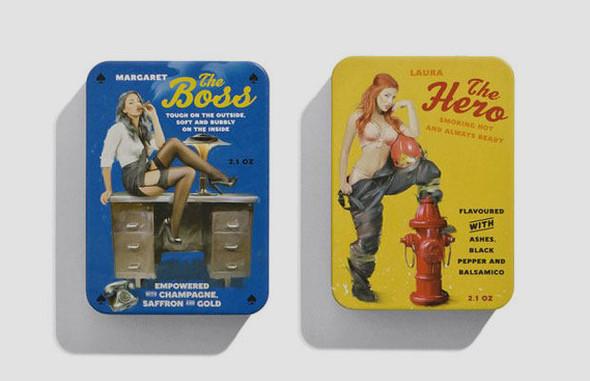 Коробки конфет с портретами девушек в стиле пин-ап. Изображение № 4.