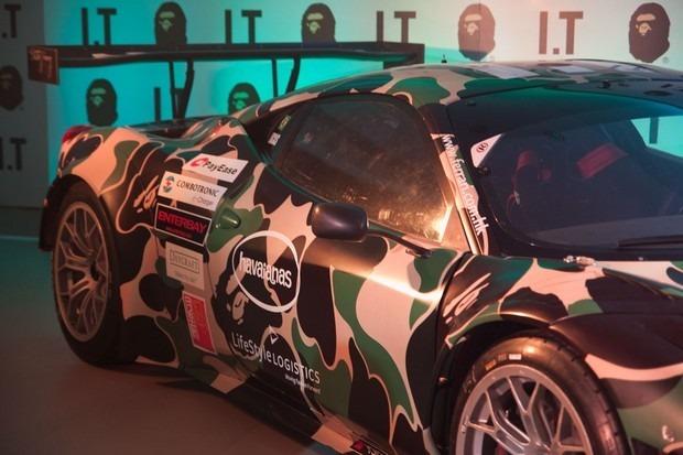 Ferrari совместно с маркой A Bathing Ape представили камуфляжную версию своего суперкара. Изображение № 4.