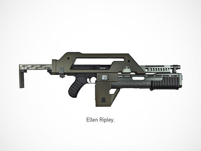 Итальянский дизайнер представил коллекцию плакатов знаменитого оружия. Изображение № 4.