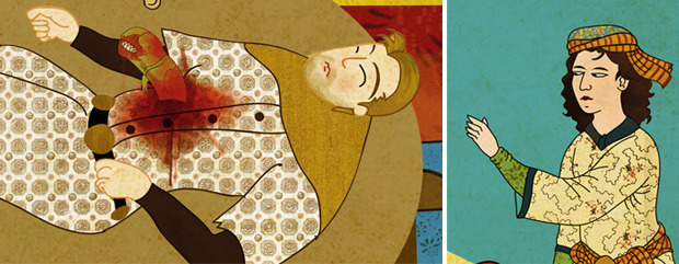 Турецкий художник изобразил кадры из известных фильмов в стиле миниатюр времен Османской империи. Изображение № 10.