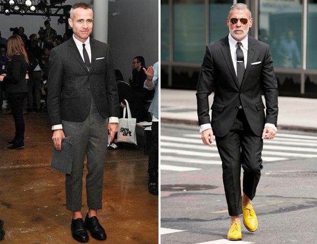 Коротко и ясно: Как правильно носить укороченные брюки. Изображение №5.