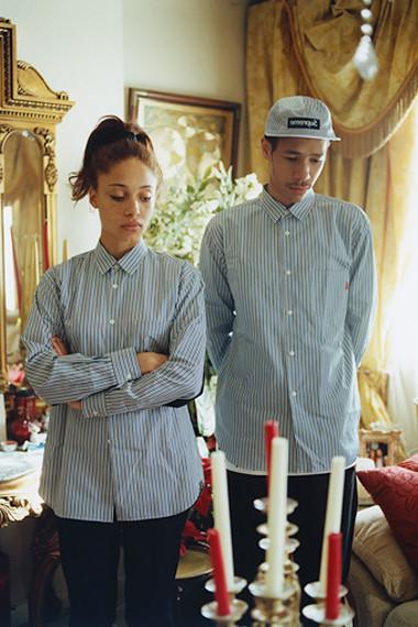 Марки Supreme и Comme des Garсons Shirt выпустили лукбук совместной коллекции одежды. Изображение № 3.