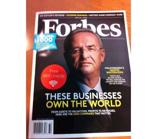 Журнал Forbes вышел со встроенным Wi-Fi-роутером. Изображение № 1.