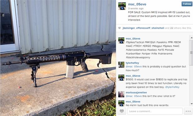 В Instagram начали продавать оружие . Изображение № 1.