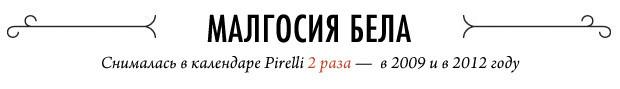 Ежегодный отчет: 20 главных звезд эротических календарей Pirelli. Изображение № 7.