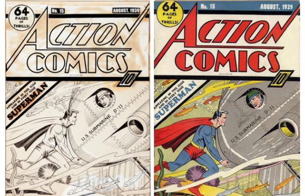 Старейшая обложка комикса о Супермене была продана за $287 000. Изображение № 1.
