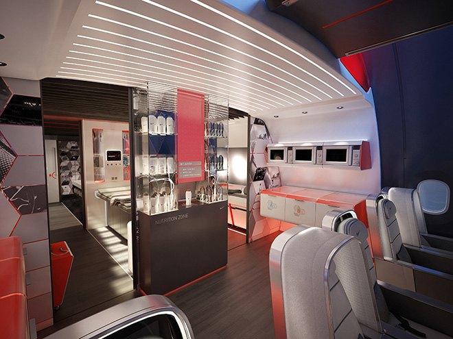 Nike представила супертехнологичный самолёт для своих спортсменов. Изображение № 3.