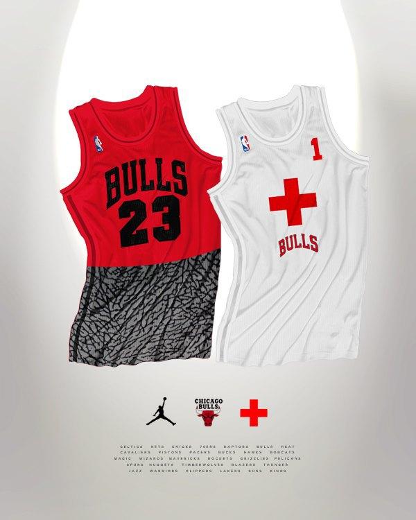 Канадский дизайнер представил, как бы выглядела форма NBA в исполнении культовых брендов. Изображение № 2.