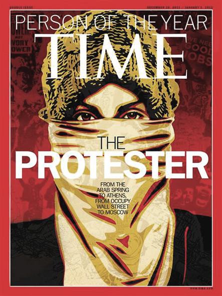«Человеком года» по версии Time стал протестующий. Изображение № 1.