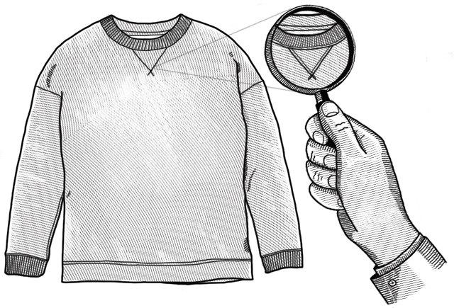 Внимание к деталям: Зачем нужен треугольник под воротником свитшота. Изображение № 1.