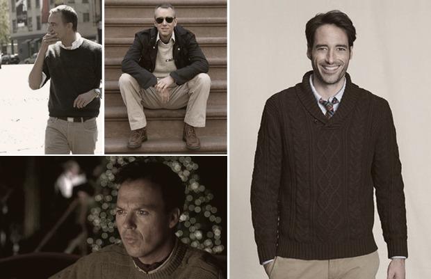 Как правильно носить рубашку под свитером. Изображение № 2.