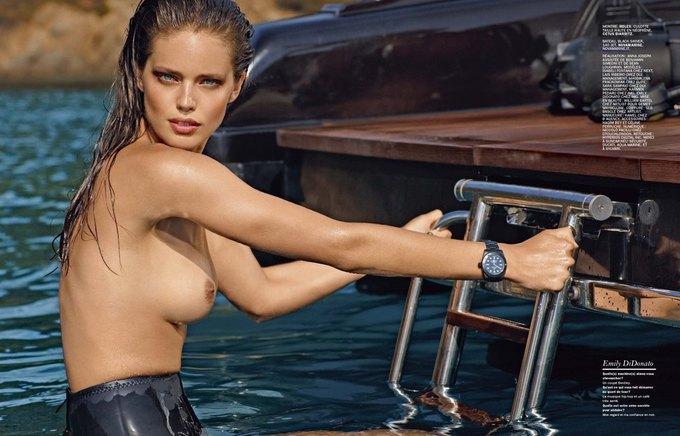 Американская модель Эмили Ди Донато снялась у Марка Сегала для июльского номера Lui Magazine. Изображение № 3.