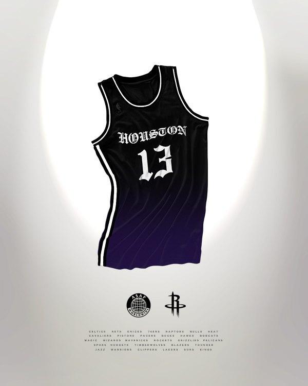 Канадский дизайнер представил, как бы выглядела форма NBA в исполнении культовых брендов. Изображение № 13.