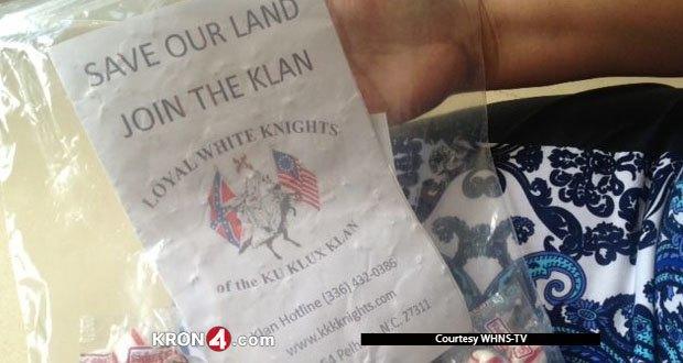 «Ку-клукс-клан» вербует американцев конфетами. Изображение № 1.