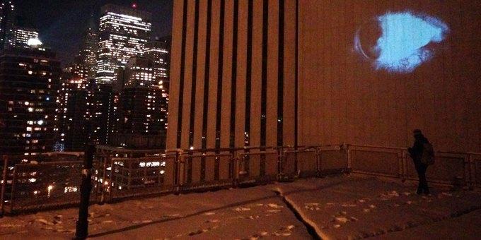 Американские активисты превратили нью-йоркское здание в башню Саурона. Изображение № 1.