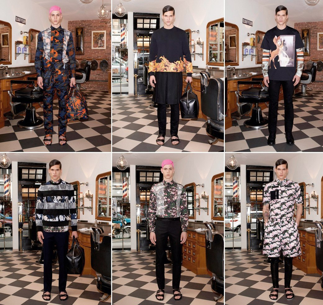Предвесенняя коллекция Givenchy с камуфляжными и цветочными принтами . Изображение № 1.