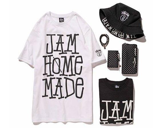 Марка Stussy представила новую коллекцию совместно с брендом Jam Home Made . Изображение № 1.