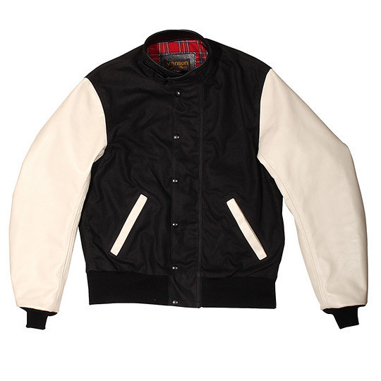Изображение 1. Компания Vanson создала гибрид университетской и мотоциклетной курток.. Изображение № 1.