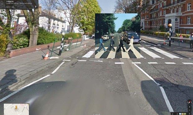 The Guardian наложила обложки альбомов на фотографии мест, где они были сняты. Изображение № 12.