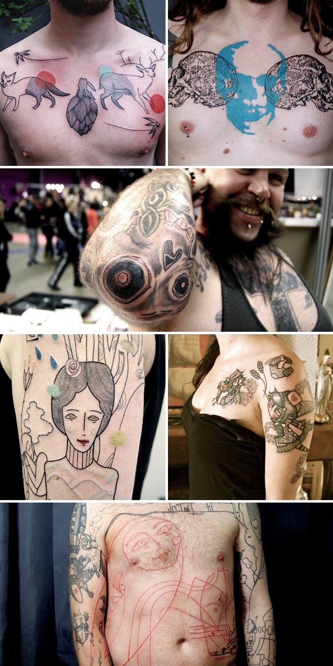 Путеводитель по самому спорному и одновременно художественному жанру татуировок — ар-брюту. Изображение № 8.