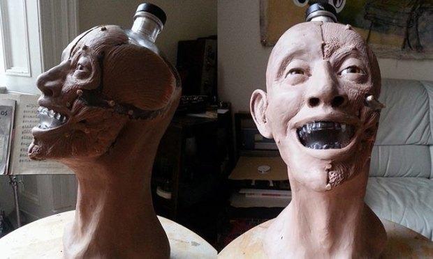 Шотландец восстановил лицо человека по черепу с бутылки водки Crystal Head. Изображение № 3.
