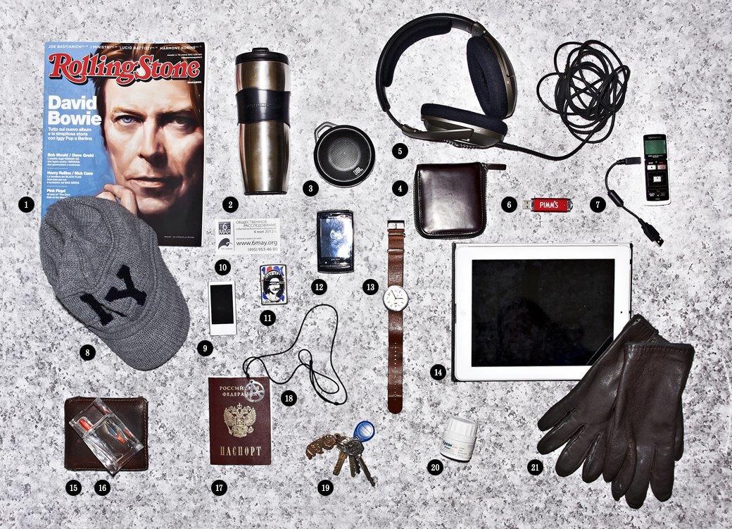 Личный состав: Предметы Александра Кондукова, главного редактора журнала Rolling Stone. Изображение № 1.