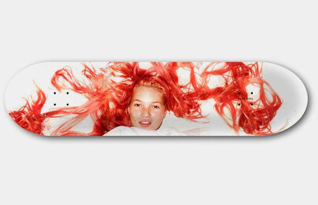 Художник Джефф Гаудинет выпустил серию дек для скейтбординга с портретами Кейт Мосс. Изображение № 7.